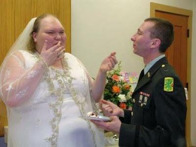 extrem hässliche dicke Braut - Hochzeits Bilder lustig
