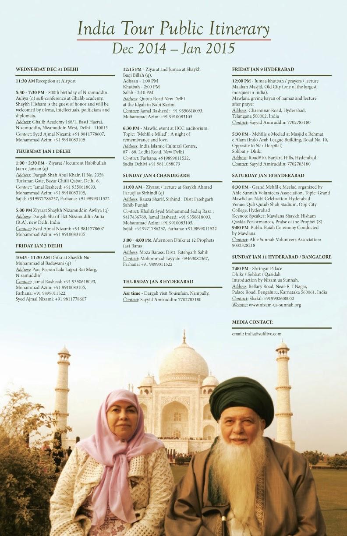 Mawlana Shaykh Hisham's India Visit