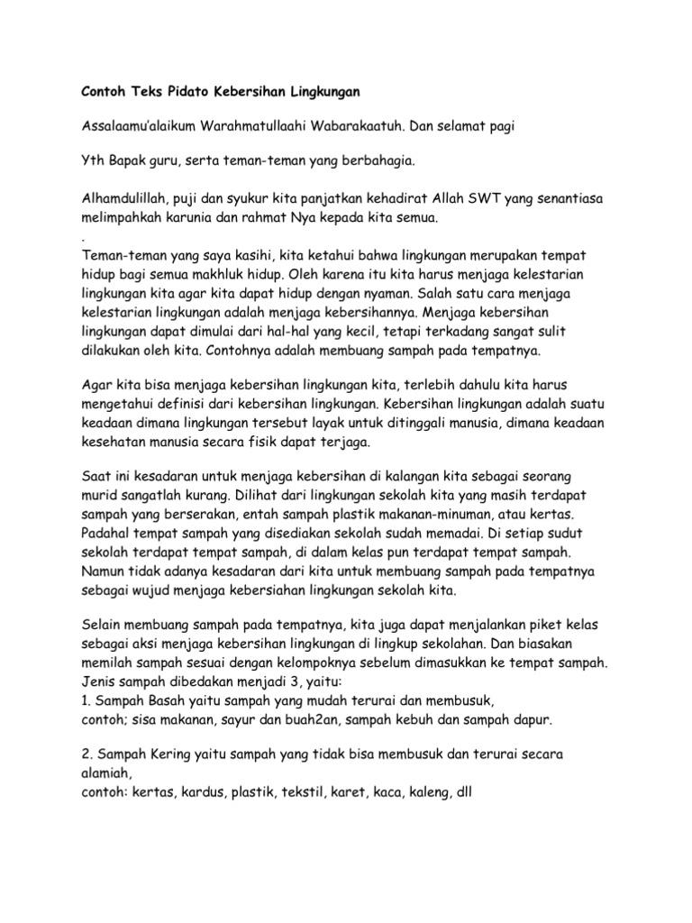 Contoh Teks Ceramah Wood Scribd Indo