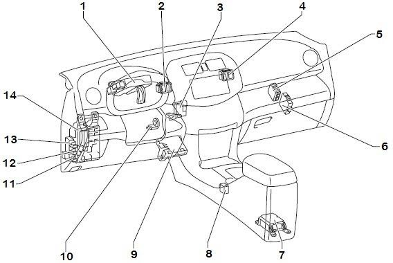 Wiring Schematic Diagram: 2006 Toyota RAV4 Instrument