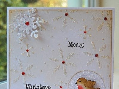 Vánoční přáníčka s lesklými stromečky