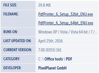 PdfPrinter Download