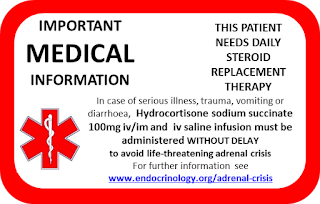 Adrenal Insufficiency Medical ID card
