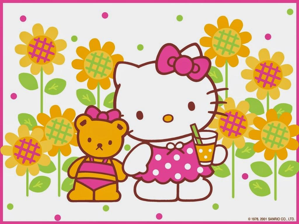 Gambar Hello Kitty Wallpaper HD  Animasi Bergerak Lucu