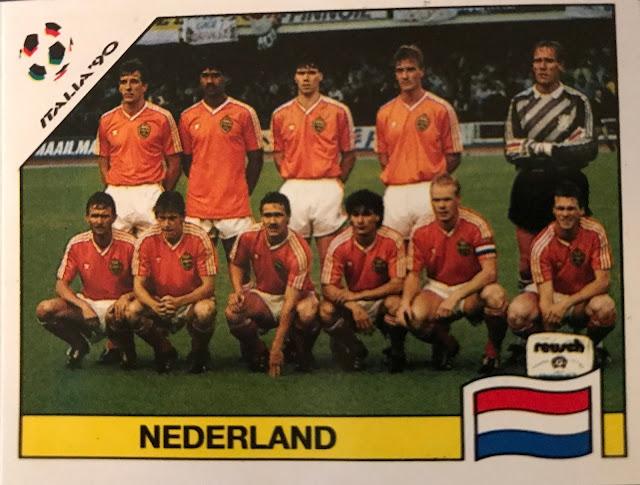 Figurina squadra Olanda, Album Italia '90