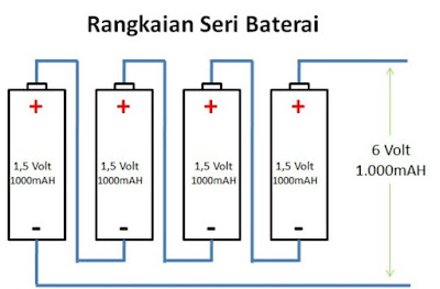 Mencharge Baterai Secara Seri