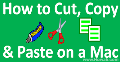 How to cut copy and paste on a Mac