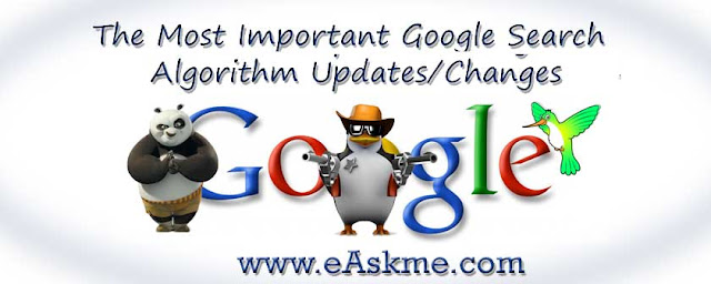The Most Important Google Search Algorithm Updates: eAskme