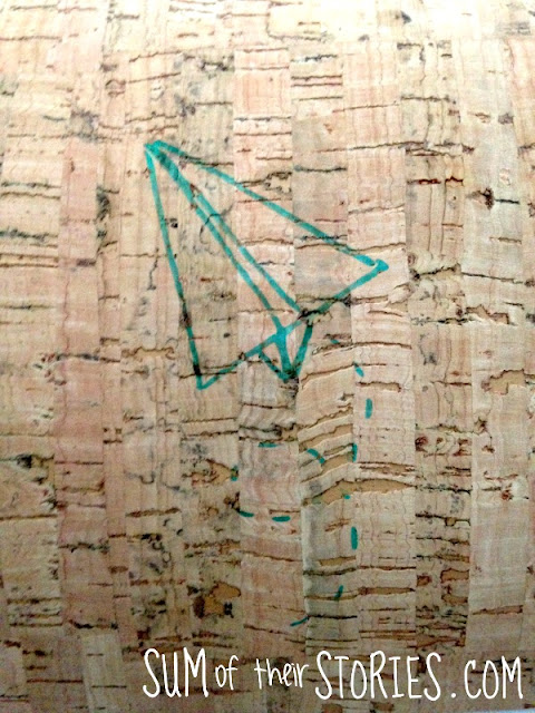 Paper aeroplane design for embroidery