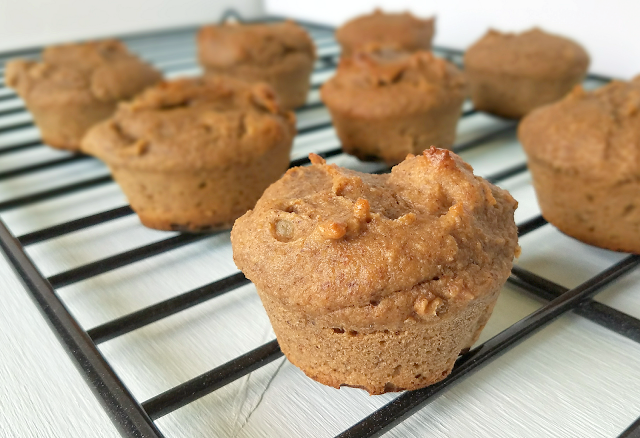 These Banana Nut Muffins are so amazing that you would never guess they're flourless, gluten-free, grain-free, sugar-free, vegan, Paleo and Whole30 compliant! Bananas provide all of the sweetness necessary, and psyllium provides the perfect texture along with plenty of fiber. Thanks to nutritious ingredients, these Banana Nut Muffins are both nutritious and satisfying!