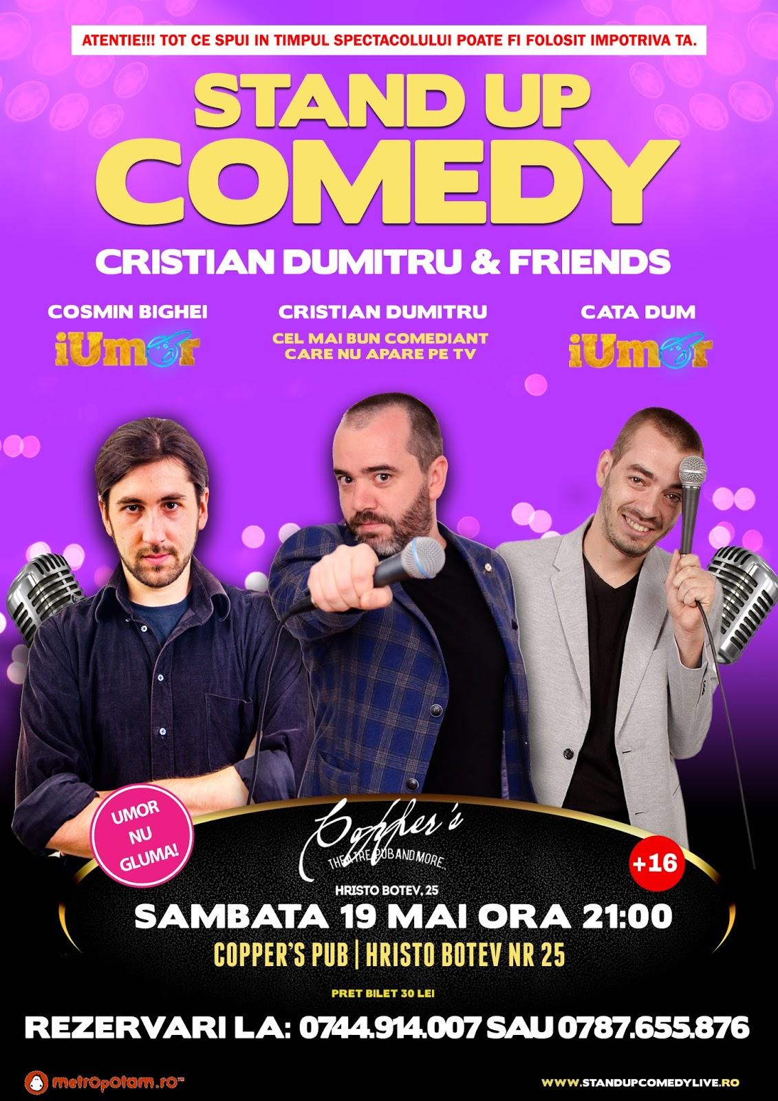 Stand-Up Comedy ca la iUmor Sambata 19 Mai