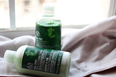The Body Shop's Tea Tree Cleanser and Toner