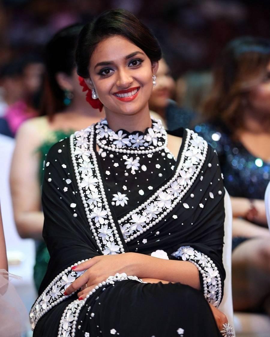 Indian Actress Keerthy Suresh at SIIMA Awards 2019