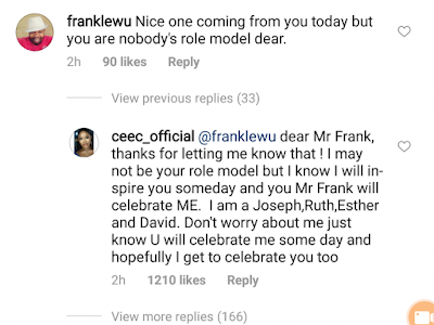 Cee-C Replies IG User Who Said She Is Nobody's Role Model