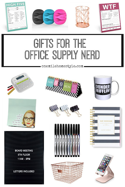 Gift Guide for the office supply nerd on your shopping list