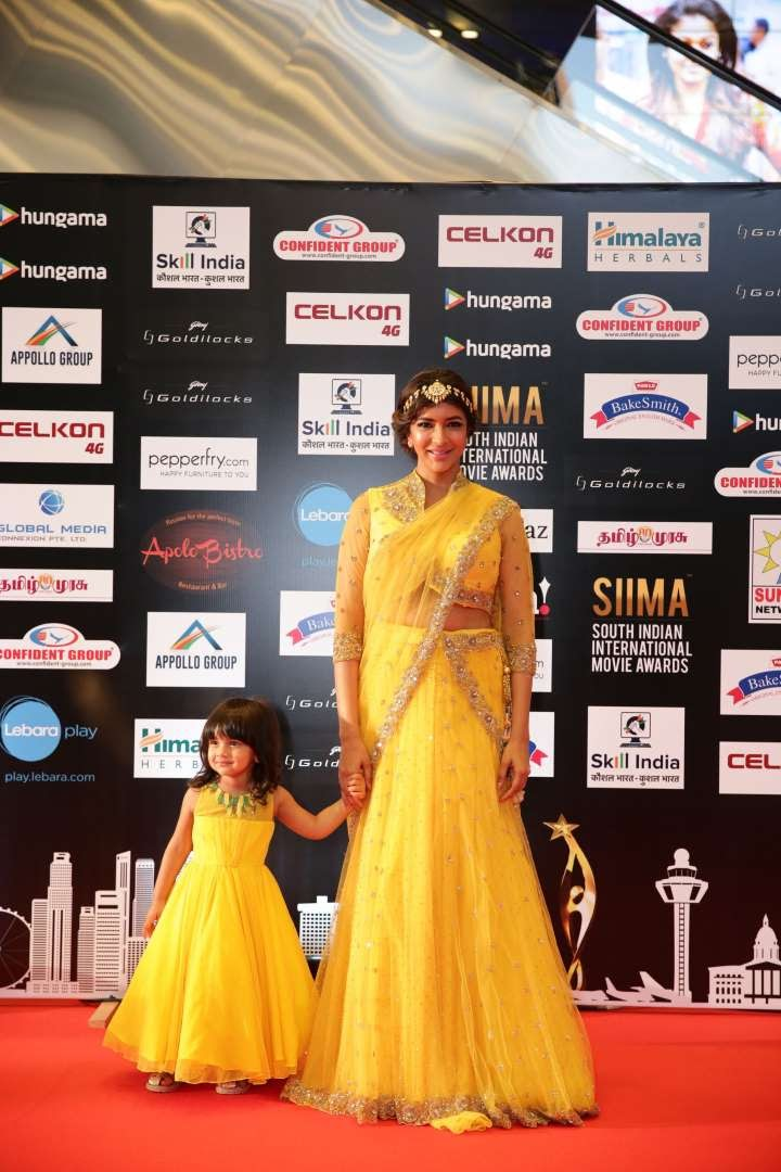 Telugu actress Lakshmi Manchu descended at SIIMA