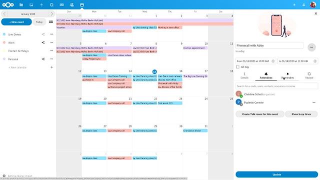Nextcloud Hub Calendar 2.0