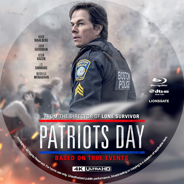 Patriots Day 4K Bluray Label