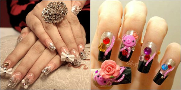 Japanese 3D Nail Art Designs for Girls ~ Violet Fashion Art