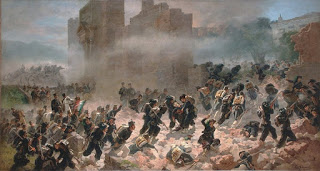 The storming of the Roman walls at Porta Pia that enabled Garibaldi to declare the unification of Italy complete