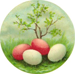 Cindy's Clipboard: April 2011 Easter Clip Art Free Retro