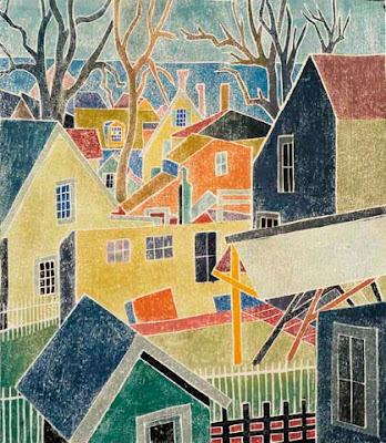 Black and White Provincetown WhiteLine Prints
