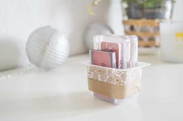 DIY Make-up Aufbewahrung