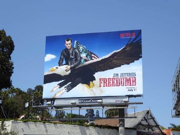 Jim Jefferies Freedumb comedy special billboard