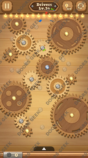Fix it: Gear Puzzle [Drivers] Level 34 Solution, Cheats, Walkthrough for Android, iPhone, iPad and iPod