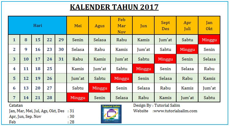 Kalender Tahun 2017