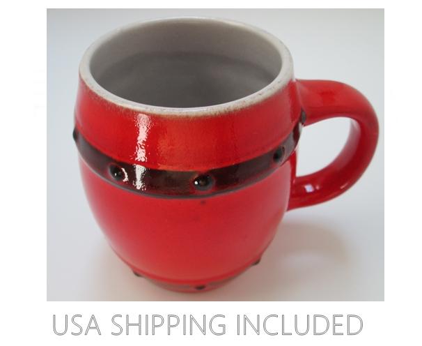 Barrel Beer Mug WGP Jasba Keramik