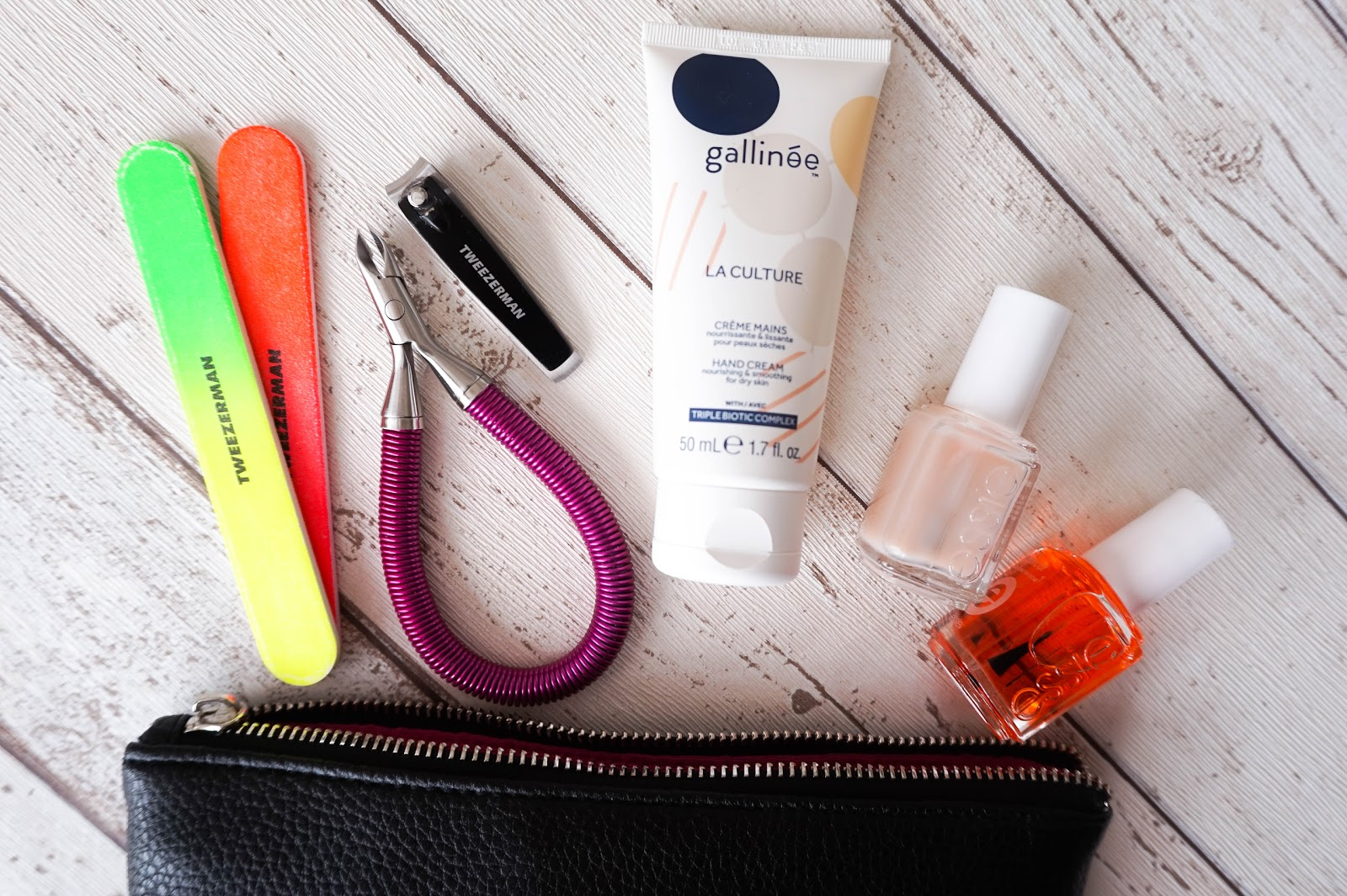 Manicure Essentials, Tweezerman, Essie, Gallinee