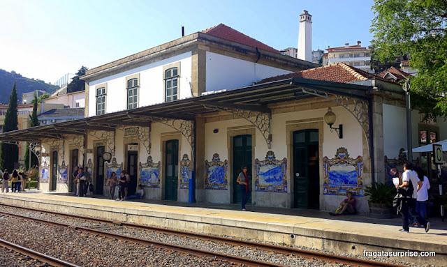 Portugal, estação de trens de Pinhão, Alto Douro