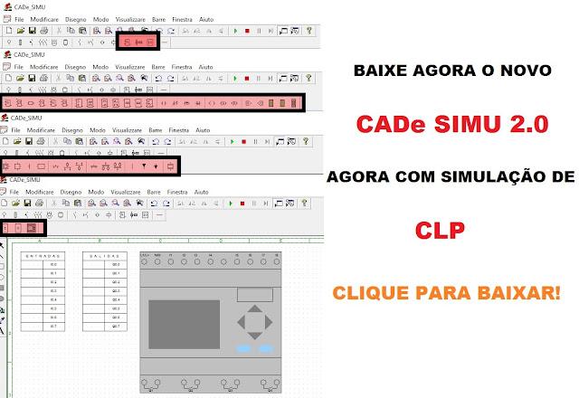 Download GRÁTIS NOVO CADe SIMU 2.0 com simular de CLP