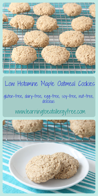 Maple and oatmeal shine in these cookies that are gluten-free, dairy-free, soy-free, nut-free, egg-free, and alcohol-free!