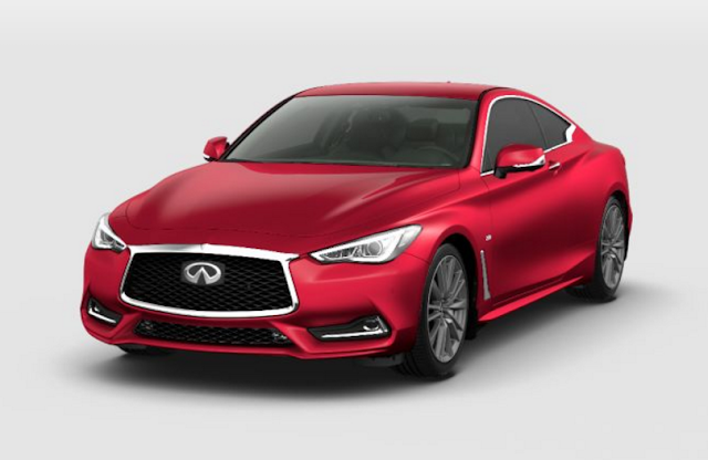 infiniti Q60 dynamic sunstone red