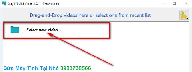 Chèn video cần chuyển