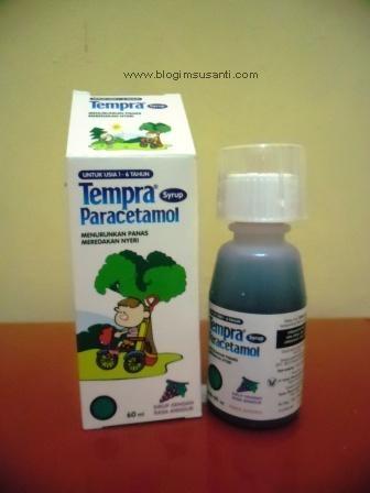 Tempra syrup obat pereda panas demam dan rasa sakit pada anak