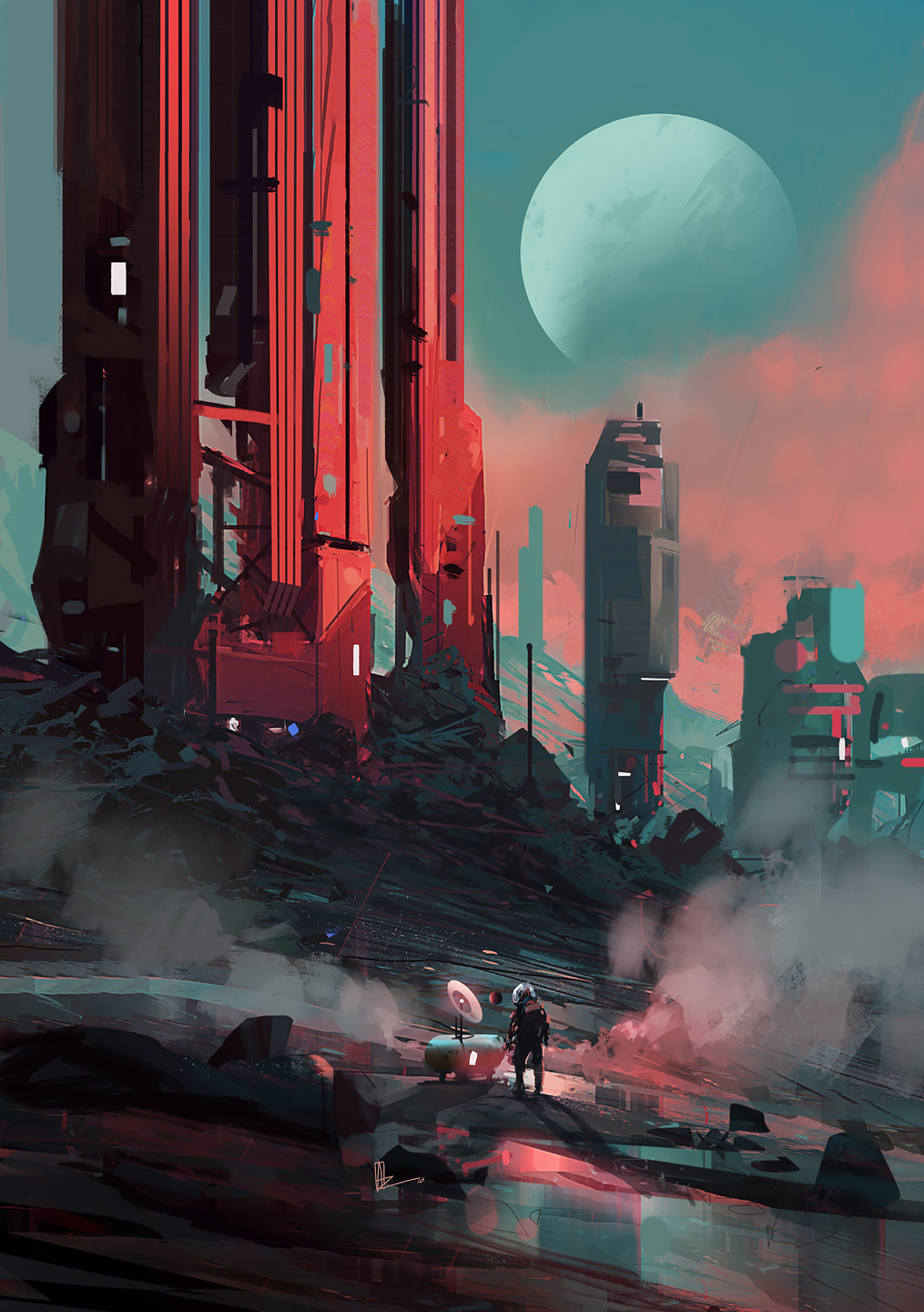 Images: Pillars And Troopers - Sci-Fi Art From Amir Zand