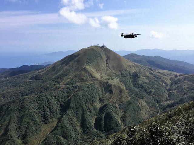 dji spark drone teapot mountain taiwan