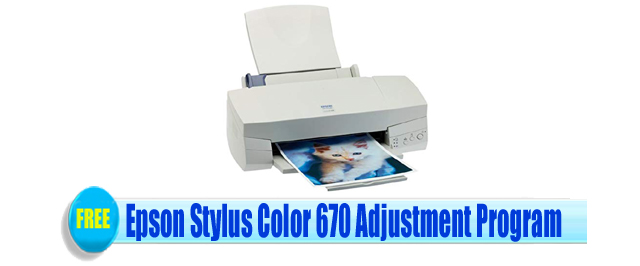 Epson Stylus Color 670 Adjustment Program