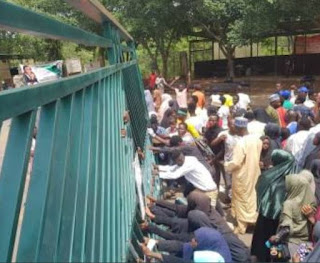 Protesting Shiites members crash into the National Assembly, chase away policemen to demand release of their leader, El-Zakzaky