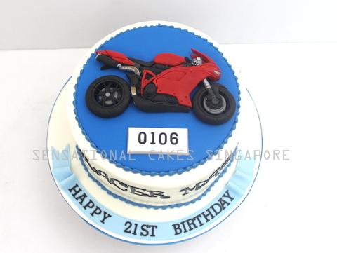The Sensational Cakes MOTORCYCLE THEME 3D CRAFT CAKE SINGAPORE
