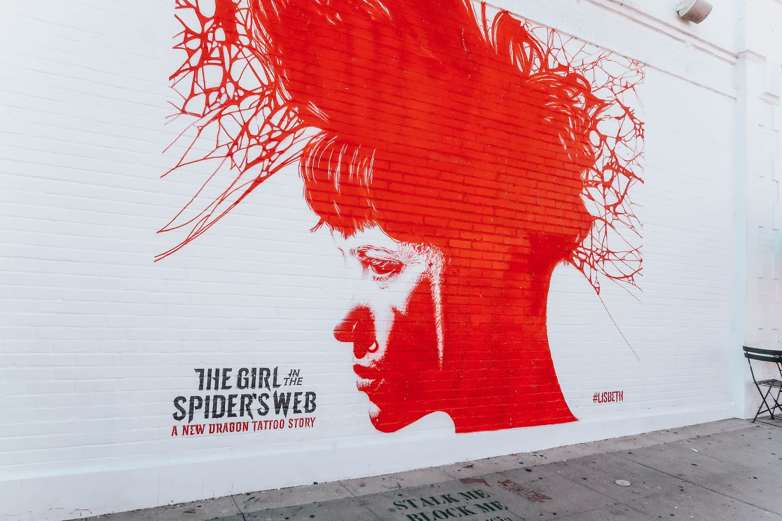the girl with the spiders web