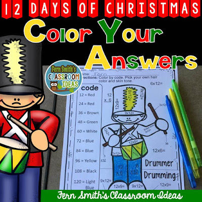 Fern Smith's Classroom Ideas Christmas Writing Center Idea and a Couple of Freebies for the I Teach Second Linky Party!