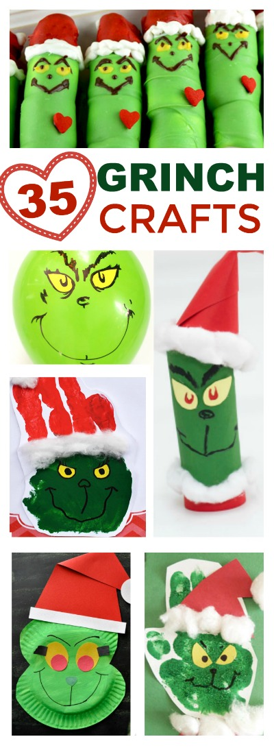 GRINCH CRAFTS & ACTIVITIES FOR KIDS:  tons of cute ideas! #Grinch #crafts #activities #kids #christmascrafts