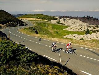 Col de la Pierre Saint-Martin Pyreneeen racefiets Frankrijk