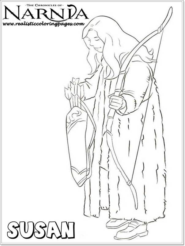 Susan Chronicles Of Narnia Coloring Pages | Realistic Coloring Pages