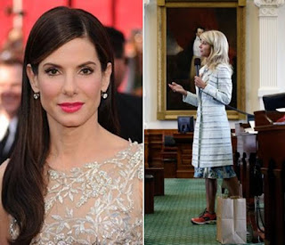 Sandra Bullock and Wendy Davis