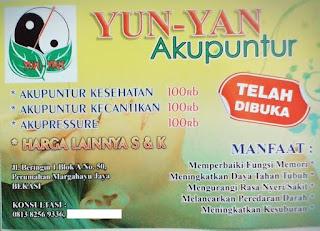 klinik akupuntur di bekasi, klinik akupuntur bekasi timur, yun-yan akupuntur